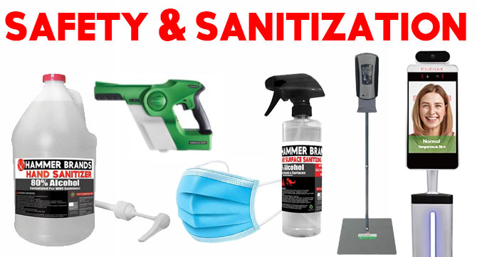 Safety and Sanitization products for non-profits